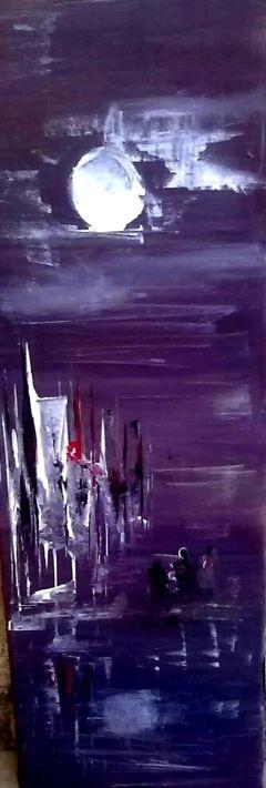 At night. Chachola Stergiani #buyart #cuadrosmodernos #art
