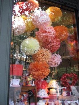 Pom Pom shop window display