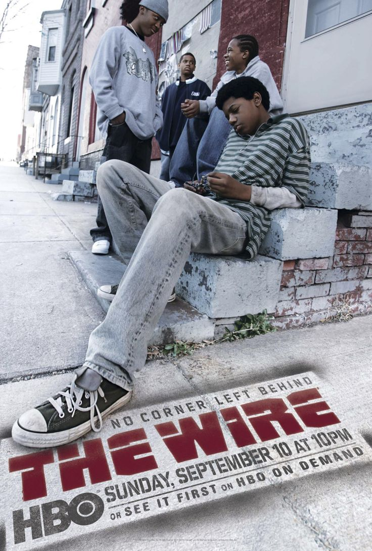 """the wire---a pic of some of the kids in the series representing """"Down In the Hole"""" theme-song sung by some of the young people in the Baltimore school system."""