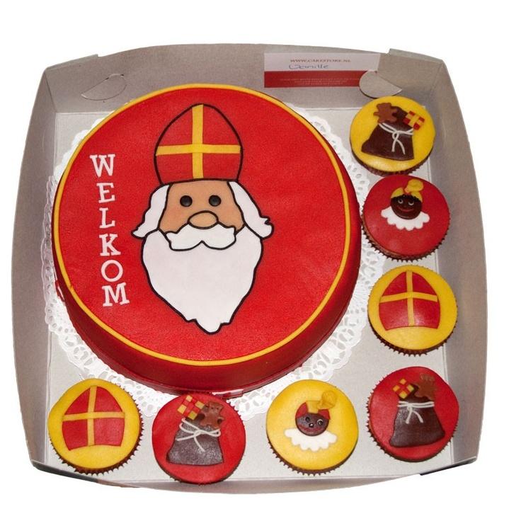 Sinterklaas taart en cupcakes door The Cake Store.nl