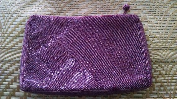 Beaded Burgundy Clutch Purse// Vintage // Retro Diva // Purse // Disco Bag //Holiday // Formal Clutch // Ladylike //Jewel Tone// Evening Bag by truthorwear. Explore more products on http://truthorwear.etsy.com