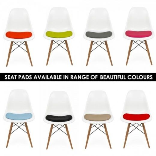 Eames Inspired Seat Pad Cushions For DSW Or DSR Side Chair