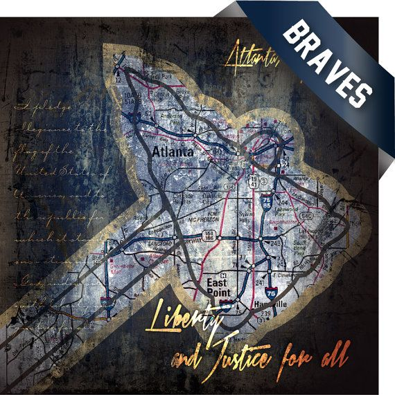 Hey, I found this really awesome Etsy listing at https://www.etsy.com/listing/154510217/atlanta-braves-map-retro-city-art-for