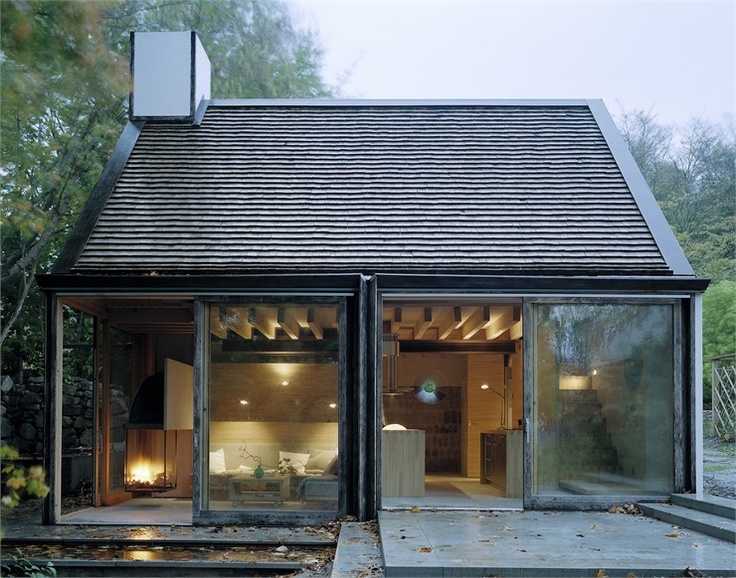 The Mill House, Västra Karup, 2000: Cabin, Beach House, Country House, House Architecture, Mills House, Glasses House, Modern Design, Small Cottages, Sliding Doors