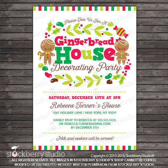 Best 25 gingerbread house parties ideas on pinterest Gingerbread house decorating party invitations