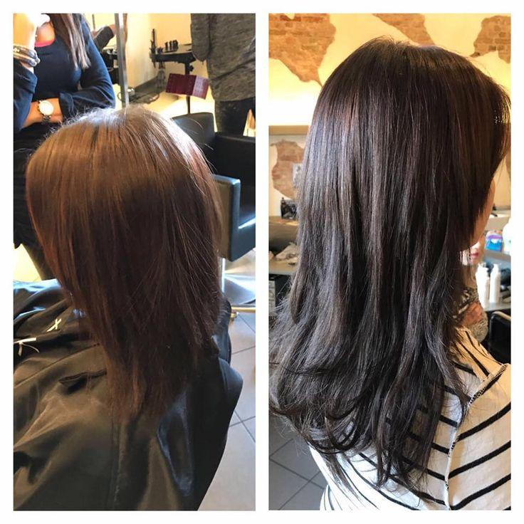 Haarverlängerung Vorher Nachher - #Haarverlängerung #HairTalk  dunkle Haare  #hairextension #hair #extension ✂ Friseur Gute Schnitte Salon Hair Nickel - Marienburger Straße 6, 10405 Berlin - Tel. 030-4427454