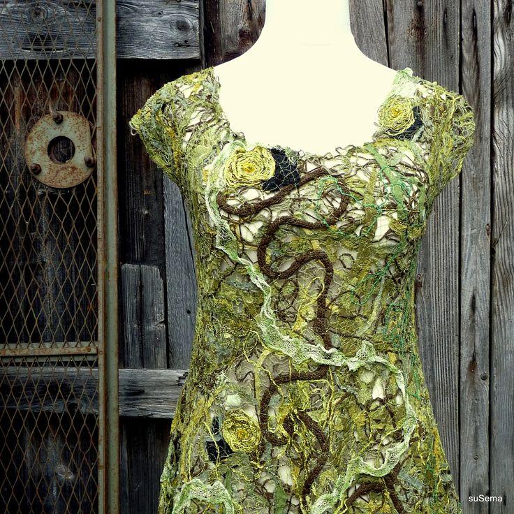Dress in Crazy Wool Technique