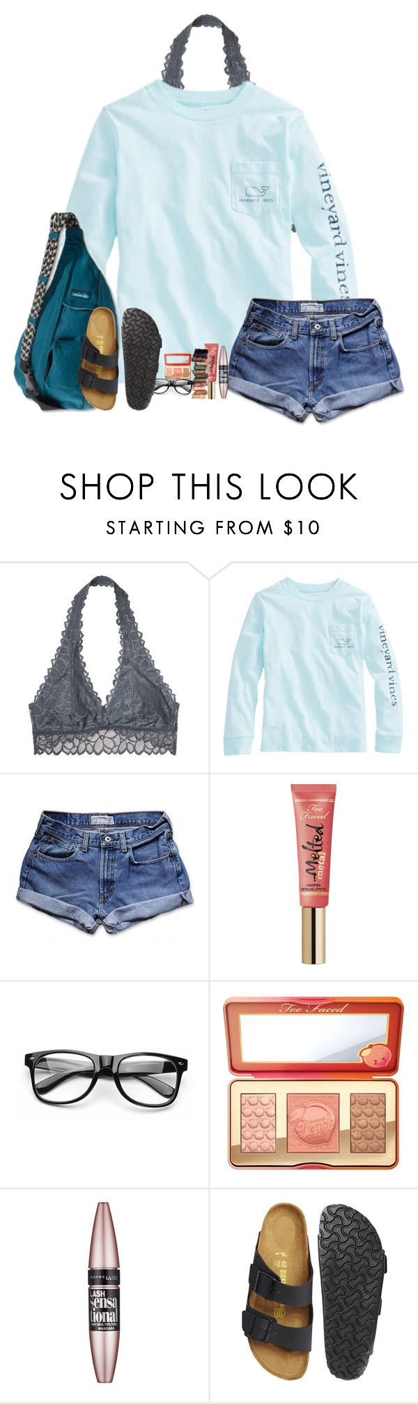 """""""Just hangin with the squad!!!!"""" by amaya-leigh ❤ liked on Polyvore featuring Victoria's Secret, Abercrombie & Fitch, Too Faced Cosmetics, Kavu, Urban Decay, Maybelline and Birkenstock"""