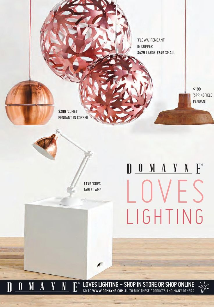#ClippedOnIssuu from Domayne Loves Lighting