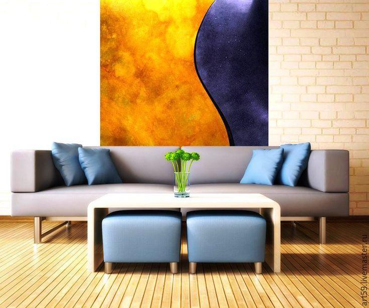 """Купить Большая картина """" Яркий стиль """" - разноцветный, абстрактная картина, абстрактная живопись"""