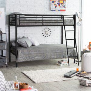 Duro Chicago Twin over Twin Bunk Bed - Black - Bunk Beds & Loft Beds at Hayneedle