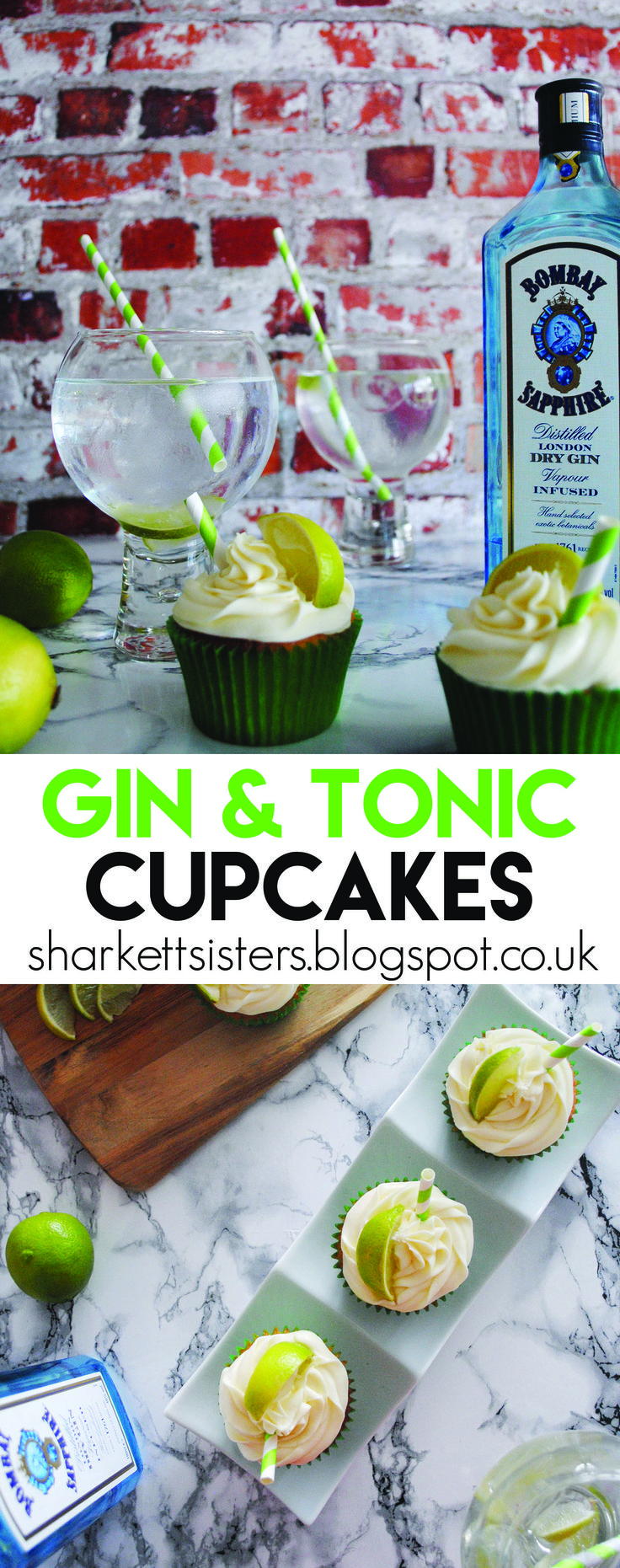 Gin & Tonic cupcakes!  http://sharkettsisters.blogspot.co.uk/2016/07/cocktail-cupcakes-gin-and-tonic.html