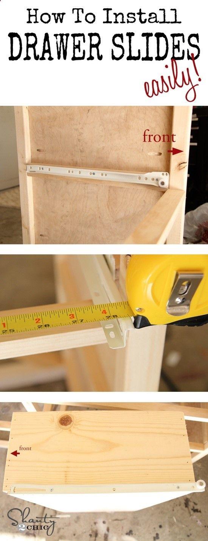 How to easily install drawer slides