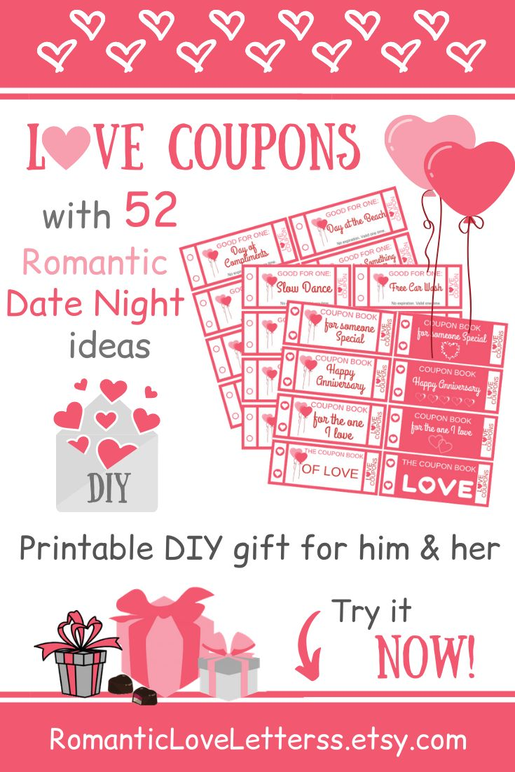 52 Printable Love Coupons For Him Romantic Date Ideas For