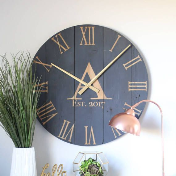blue wall clocks large clock with separate numbers extra contemporary cheap