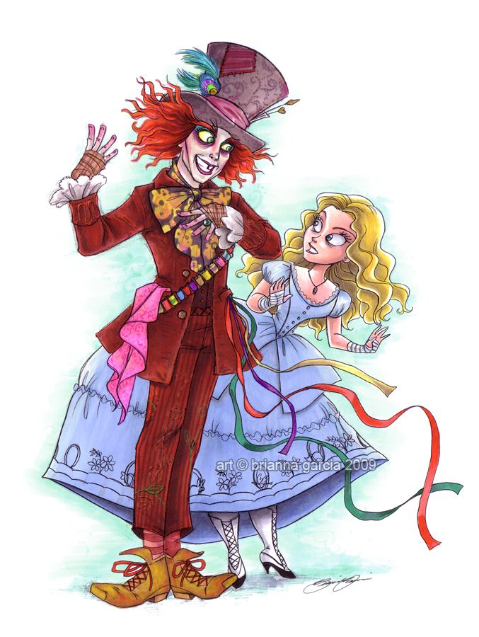 burton's alice and hatter by `briannacherrygarcia on deviantART