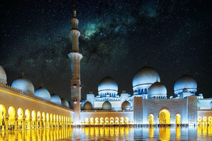I wish it were so - Overlay of two images Sheikh Zayed Grand - küchenrückwand alu dibond