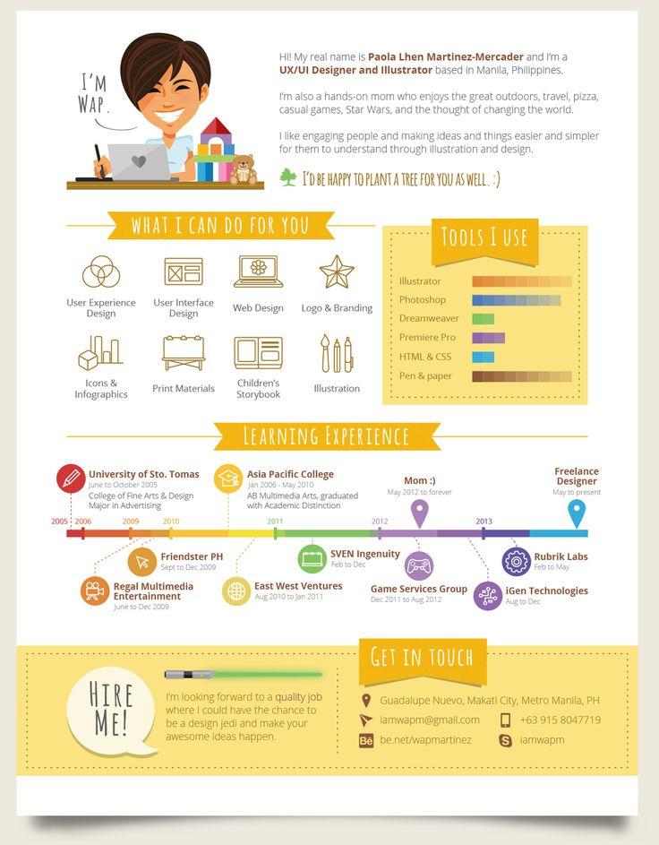 infographic resume creator 8 best ux designer resume images on