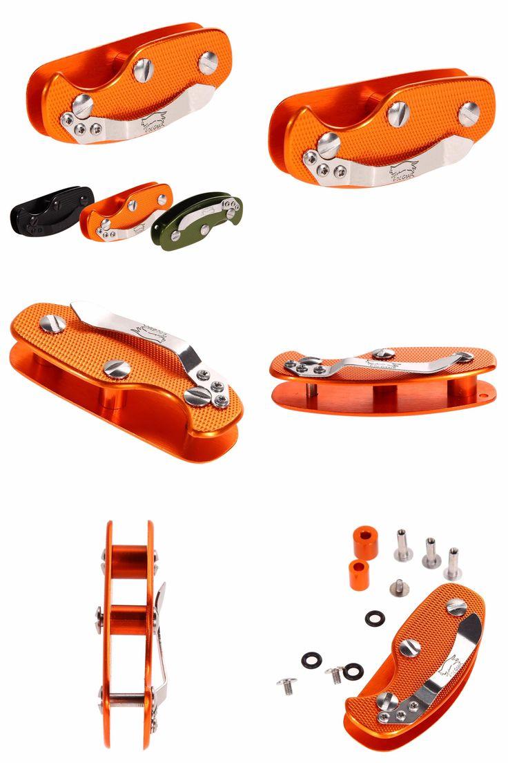 [Visit to Buy] Aluminum Key Holder Pocket Key Organizer Clip Folder Keyring Case Portable for Outdoor Camping Hiking Pocket Key Clip-on Holder  #Advertisement