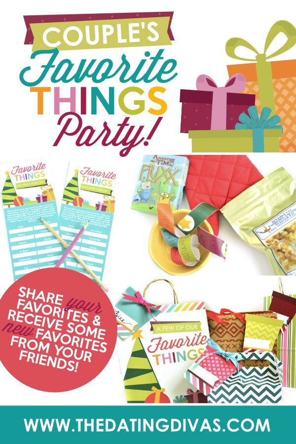 Favorite Things Party For Couples The Dating Divas Favorite