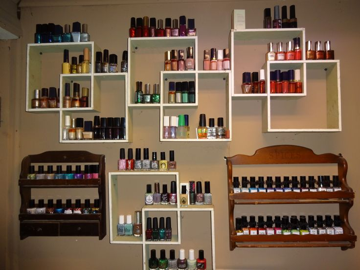 My nail polish storage display rack