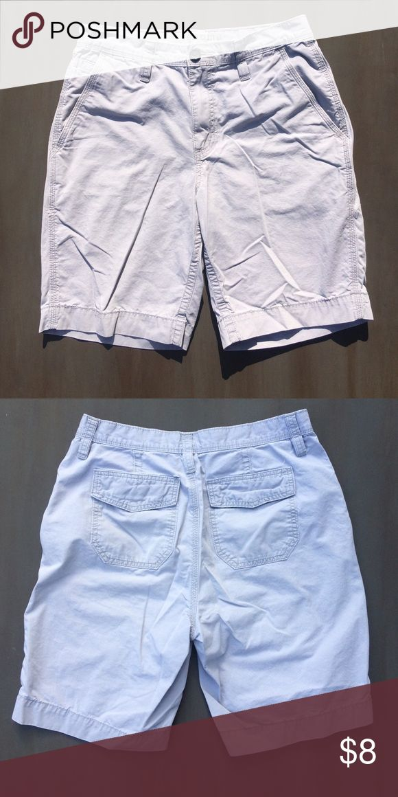 Light gray shorts. They are shorts and they are light gray. Shorts