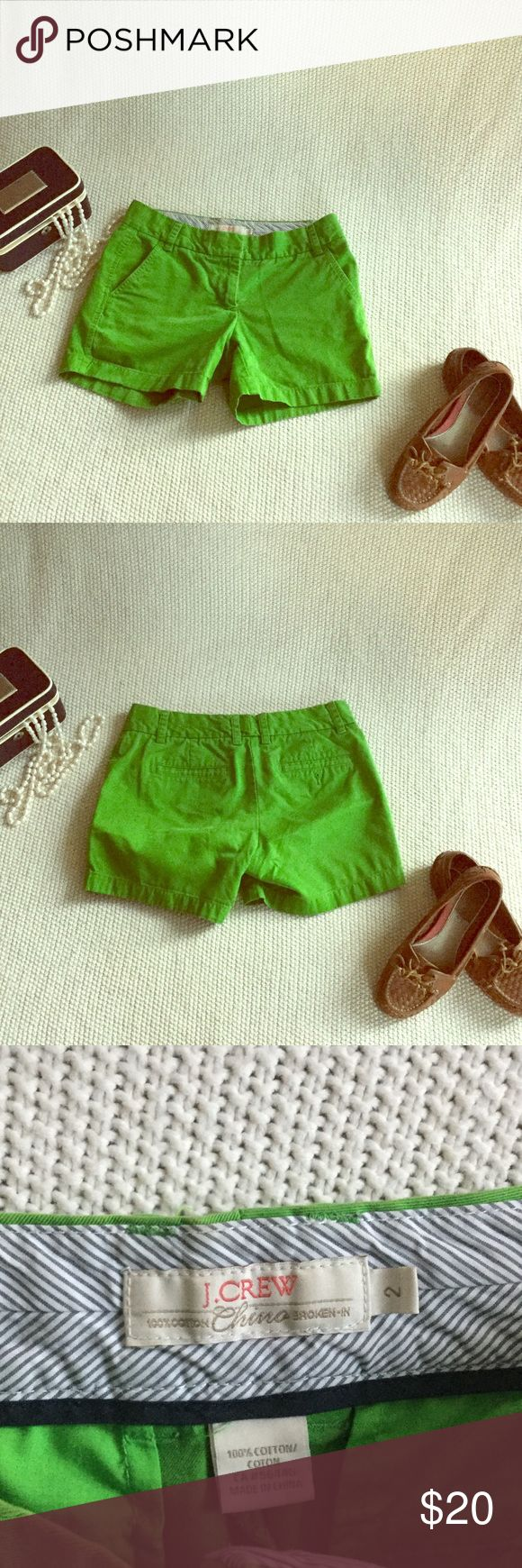 J Crew Green Chino J Crew Green Chino. Lost the button on the back pocket J. Crew Shorts