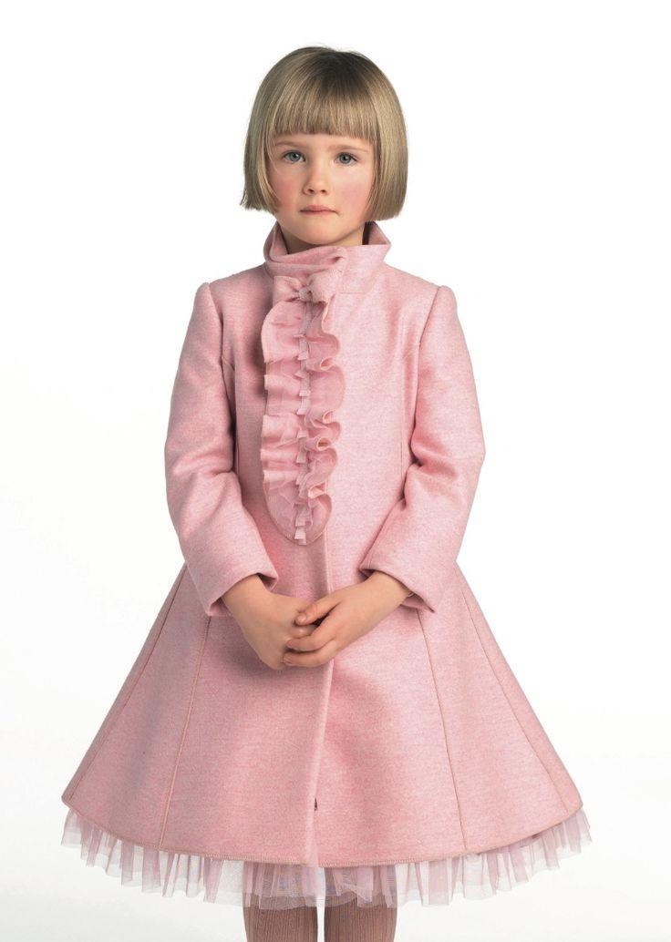 I Pinco Pallini children's fashion preview for winter 2012, pastel ruffled coat