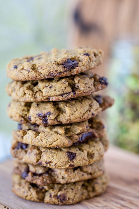 Pistachio Butter Chocolate Chunk Cookies. Delicious. Delicious!