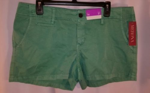 "9.49$  Buy now - http://virkr.justgood.pw/vig/item.php?t=szaqhe30379 - Merona Womens Green Shorts Size 14 NWT 3"" Inseam 100% Cotton 9.49$"