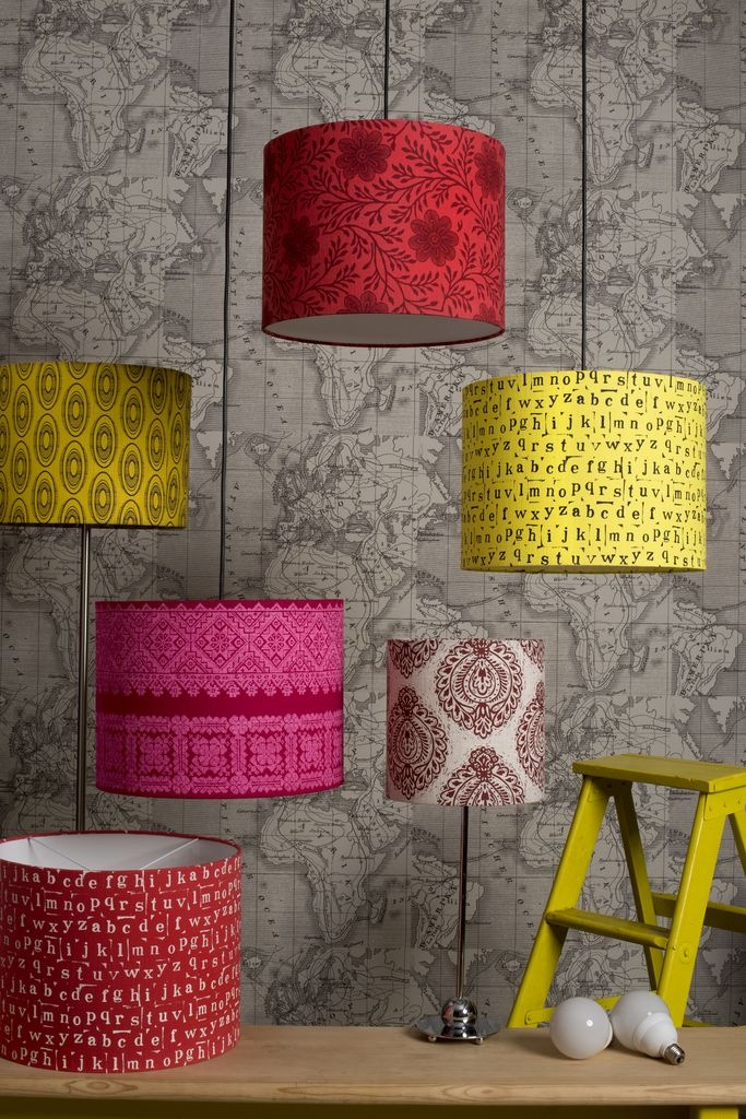 Which lampshade is your favourite? We love the Lumo Pink on fuchsia, Cross stitch design from our Barcelona Paris Istanbul collection.