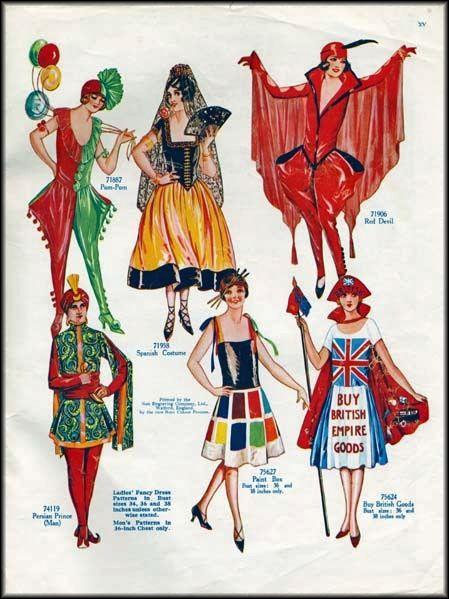 Vintage 1920s Weldon's Fancy Dress Costumes for Ladies and Gentlemen Catalogue