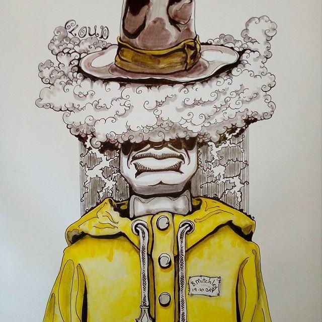Inktober day 19 -Cloud- #inktober #inktober2017 #inktoberday19 #inktoberprompts #ink #penandink #brushandink #brushpen #copic #bmitchleyart #koibrushpen #cloud #character #comic #southafricanartist #southafrican #southafrica #artist #artistoninstagram #art #illustration #dailysketch #bunny #hungry #male #drawingink #rain #hat #raincoat