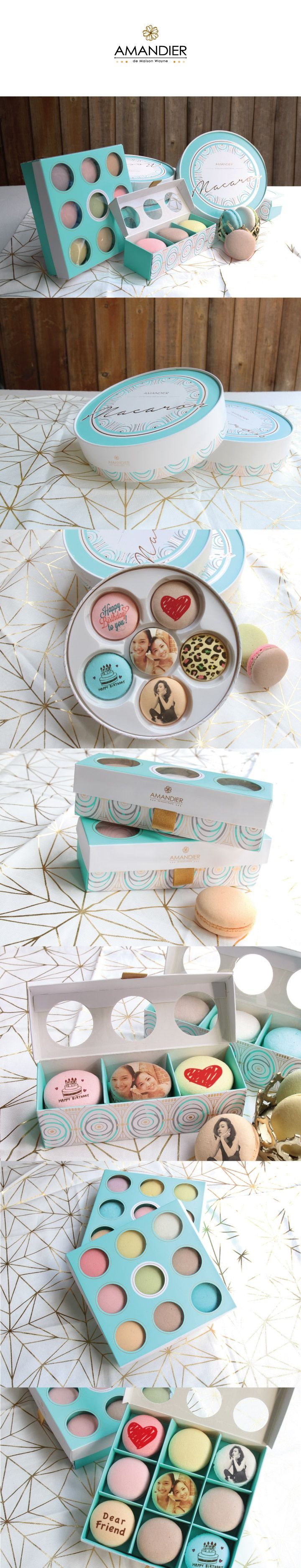 AMANDIER's Macaron packaging #macaron#packaging#design#packagingDesign