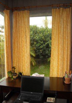 How to Make Your Own Curtains.  Easy.  To me, Step 5 is the crucial part since fabric stores can be costly.