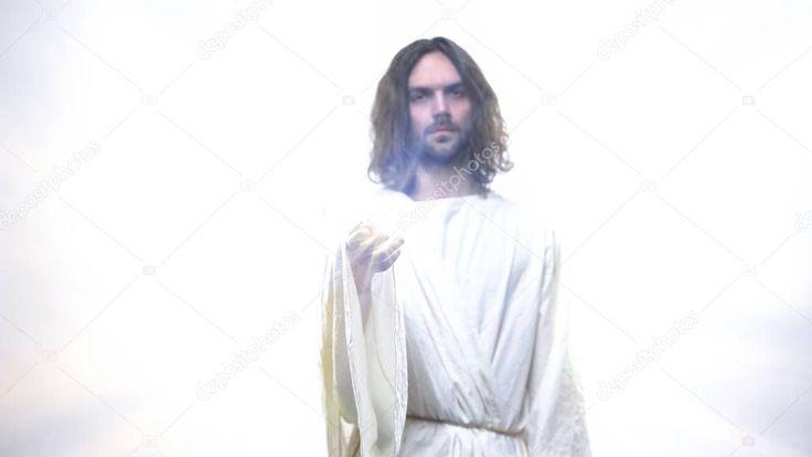 Gott weiße Robe geben Licht Menschen Konzept religiöse Wunder Heilung – St, #AFF …   – Graphic Design Branding