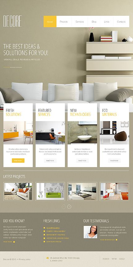 52 Best Interior Furniture Website Templates Images On Pinterest