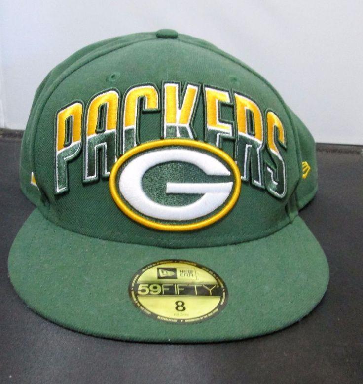 Green Bay Packers Hat Cap Size 8 NFL New Era 59 Fifty Green & Yellow Gold #NewEra #GreenBayPackers