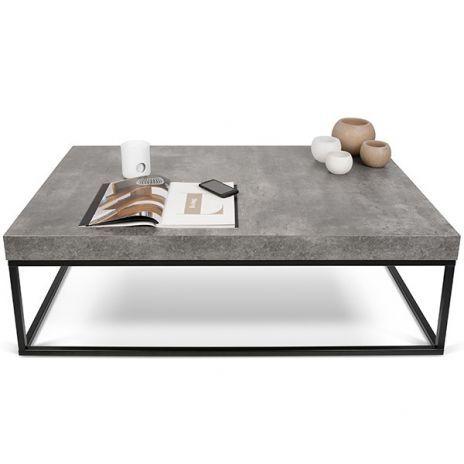 PETRA, Couchtisch und Beistelltisch: Beton Aspekt und Stahl, ohne konkrete - entworfen von IN ES MARTINHO (Diy Table)