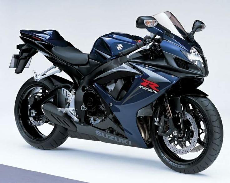 Suzuki GSXR750 dark blue 2007