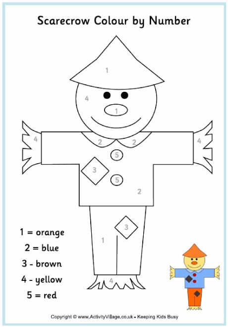 Scarecrow colour by number