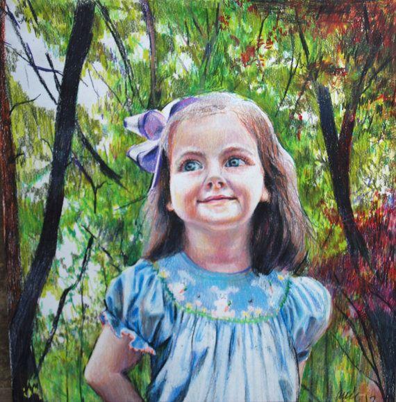 Annie Flynn. Cora in colored pencil