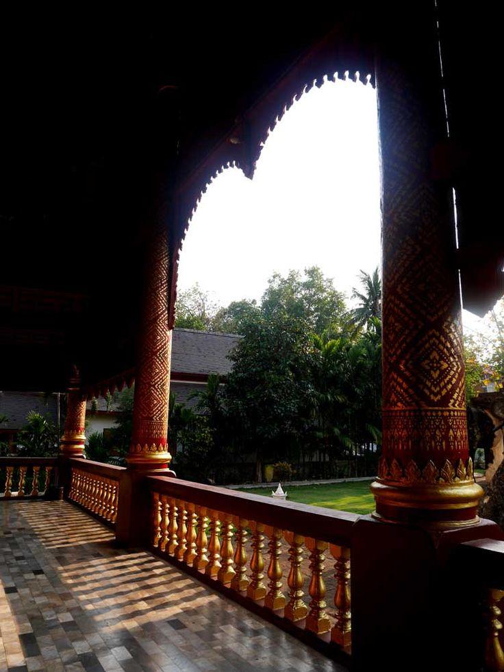 Back balcony of Wat Chiang Man, Chiang Mai, Thailand