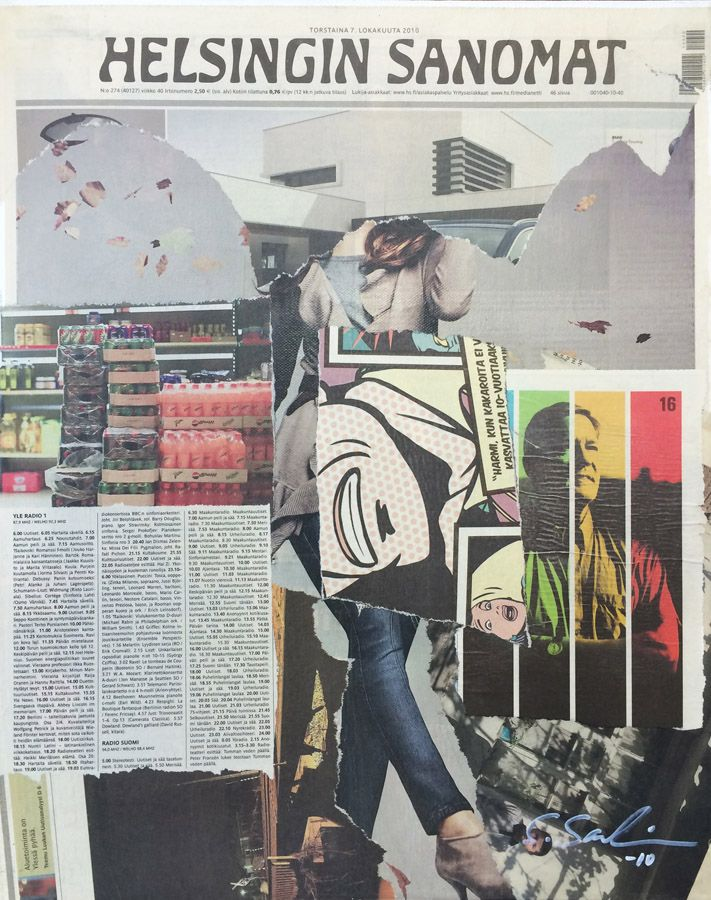 40x50 / newspaper on canvas / 2011 / sold
