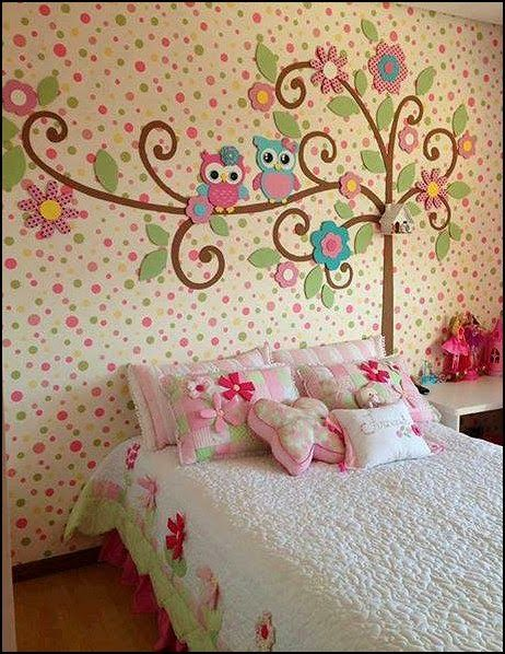 owl theme bedroom decorating ideas