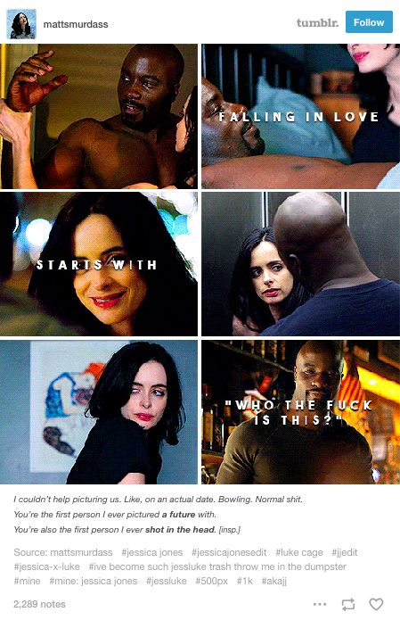 jessica jones, jj, tumblr, jessica jones tumblr, jessica jones texpost, jewel, daredevil, matt murdock, daredevil tumblr, daredevil textpost, matt murdock tumblr, matt murdock textpost, marvel, marvel cinematic universe, mcu, marvel comics, luke cage, luke/jess
