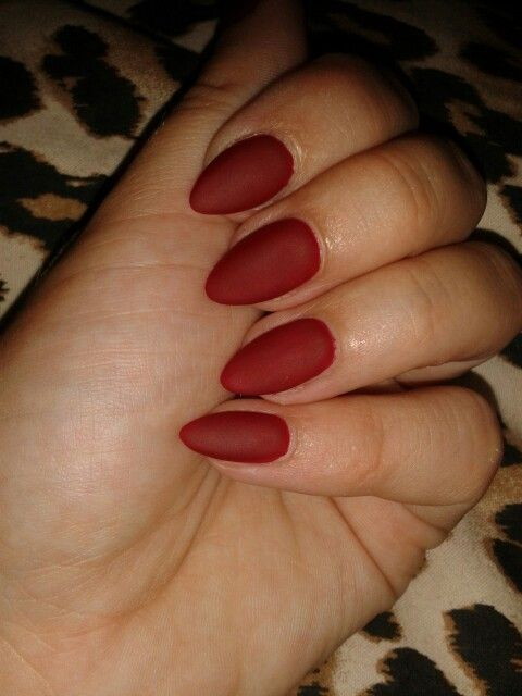 ❤stiletto matte top coat nails❤