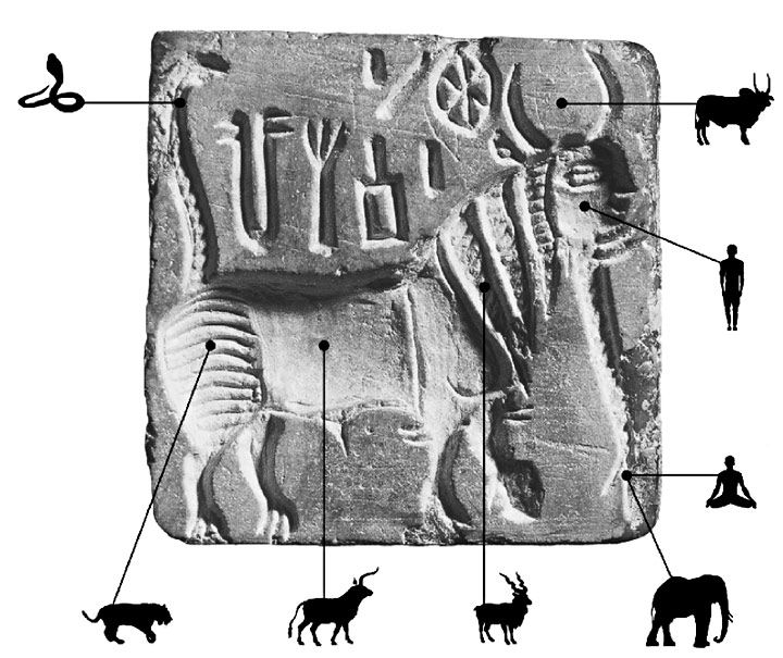 A truly fascinating paper by Dennys Frenez and Massimo Vidale on composite Indus creatures and their meaning: Harappa Chimaeras as 'Symbolic Hypertexts'. Some Thoughts on Plato, Chimaera and the Indus Civilization at http://a.harappa.com/content/harappan-chimaeras