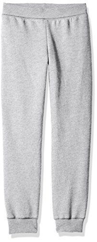 Hanes Big Girls' ComfortSoft Ecosmart Fleece Jogger Pants  Plush, medium weight 7.8 cover. Fleece  Cuffed leg openings  Elastic waistband for a flexible fit  High-stitch density, so it last longer, without pilling  Tag-free for added comfort
