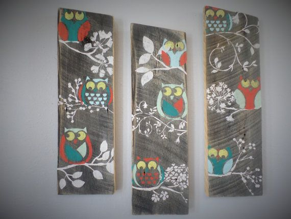 Hey, I found this really awesome Etsy listing at https://www.etsy.com/listing/184530825/3-reclaimed-upcycled-country-owls-rustic